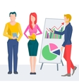 Leading business conference or training vector image