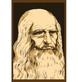 Leonardo da Vinci Self-Portrait 1512 vector image vector image