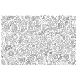Line art doodle cartoon set of Electric vector image vector image