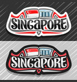 logo for singapore vector image