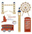 london symbols and architecture set collection vector image vector image