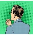 male businessman back vector image vector image