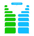 message bubbles for text chat sms mms speech box vector image