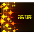 Modern background with neon orange stars eps10 vector image
