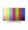 modern lcd tv with painting vector image vector image