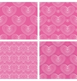 patterns with hearts vector image vector image