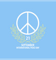 peace symbol banner vector image vector image