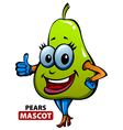 Pears Mascot vector image vector image