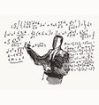 professor formulas a blackboard learning a vector image vector image