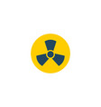 radiation icon flat element vector image