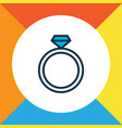 ring icon colored line symbol premium quality vector image