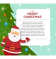 Santa Claus hold banner with Christmas greetings vector image vector image