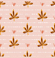 seamless pattern with autumn maple leaves vector image