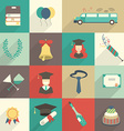 Set of Graduation Celebration Elements vector image
