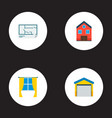 set of immovable icons flat style symbols with vector image