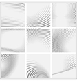 set of striped abstract forms vector image vector image