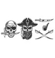 set pirates vector image vector image