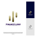 stats financial advisors logo design concept vector image vector image