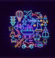 transport neon concept vector image