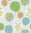 Trees seamless pattern Trees with colored foliage vector image vector image