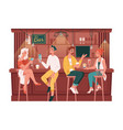 visitors chatting in bar or pub friends meeting vector image vector image