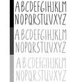 watercolor handwritten font vector image vector image