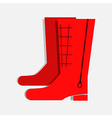 Winter Boots vector image vector image
