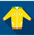 Yellow Jacket in Flat Style vector image vector image