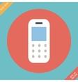 Mobile phone - Flat design vector image