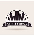 City logo buildings Silhouette icon vector image