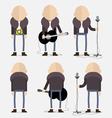 Bald artist vector image
