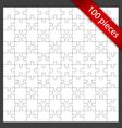 100 puzzle pieces vector image vector image