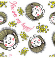 3 seamless spring pattern vector image