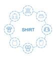 8 shirt icons vector image vector image