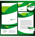 abstract creative corporate identity wave green vector image vector image