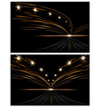 abstract light effects two pictures car lanterns vector image vector image