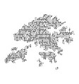 abstract schematic map of hong kong from the vector image vector image
