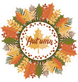 autumn mandala circular pattern vector image vector image