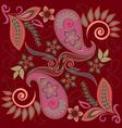 bandana paisley design- colorful print square vector image vector image