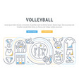banner volleyball vector image