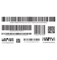 bar code icon set modern flat barcode can be vector image