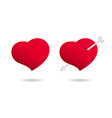 beautiful hearts with cupid arrow images vector image vector image