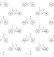 black bicycle seamless on white background vector image