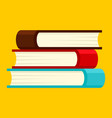 Book stack icon flat style