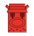 box with wheat ears emblem icon image vector image