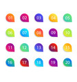 bullet point icons with numbers color circles vector image