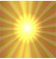 Burst stars light descending on yellow background vector image vector image