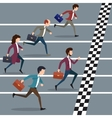 Business people winning marathon vector image