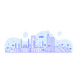 cairo skyline egypt city buildings line art vector image