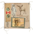 Canada - Pictures of Life Tribes vector image vector image